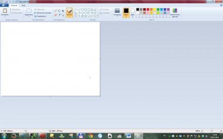 Как сделать скриншот экрана? Рабочая область программы Paint