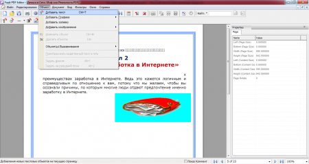 Редактор pdf файла может создать pdf с нуля