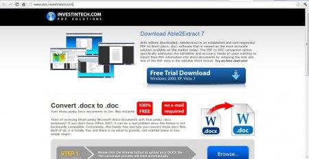 Сайт docx в doc конвертер