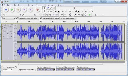 Аудио файл в программе обработки звука