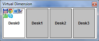 Рабочее окно Virtual Dimension
