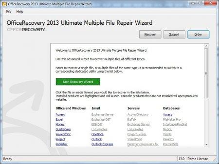 Открываем приложение Multiple File Repair Wizard
