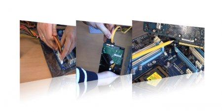 Сборка компьютера. Подключение кабелей
