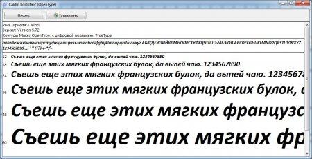 Как установить шрифты для фотошопа? Как установить шрифты в Windows 7? Просмотр шрифта