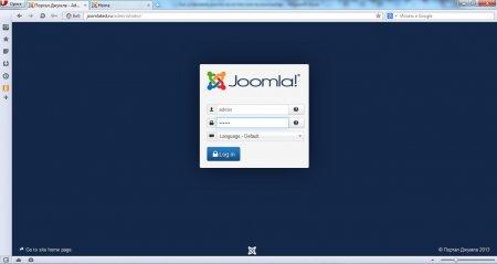 Установка Joomla на Денвер. Вход в панель управления joomla