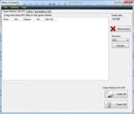 Программа XBoot для создания мультизагрузочной флешки