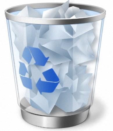 Как удалить файлы из корзины?