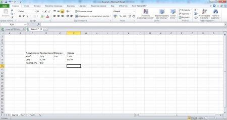 Заполняем ячейки информацией, создавая таблицу в Экселе
