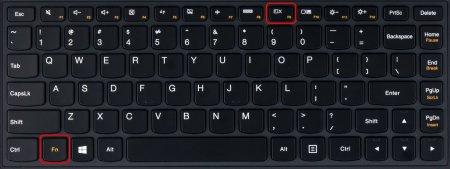 Комбинация клавиш выключения подсветки экрана ноутбука на втором экземпляре