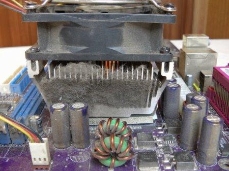 Радиатор забитый пылью