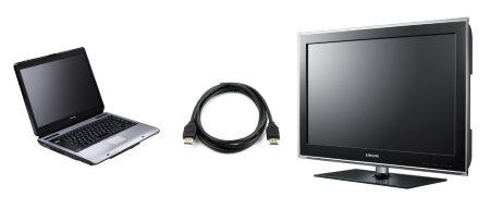 Как подключить ноутбук к телевизору?