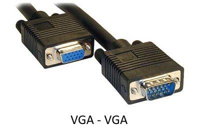 Подключение ноутбука к телевизору через VGA