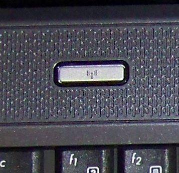 Кнопка включения WiFi слева над клавиатурой