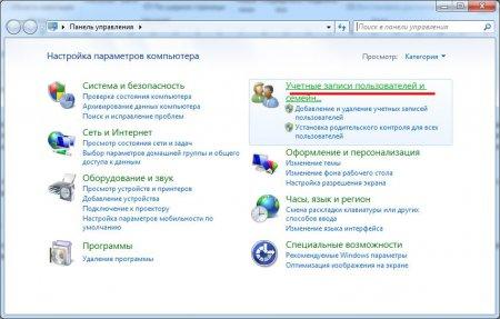 Панель управления Виндовс 7