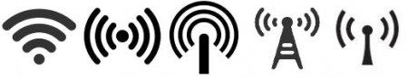 Различные значки WiFi