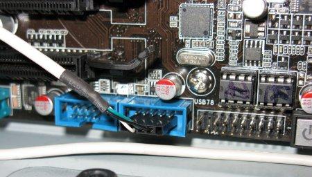 Подключение USB к материнской плате с передней панели корпуса