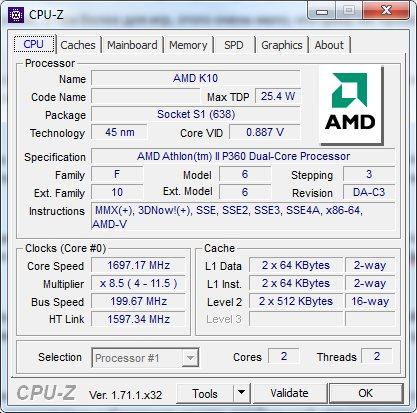 Смотрим информацию о процессоре