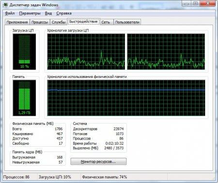 Смотрим количество логических процессоров в диспетчере устройств