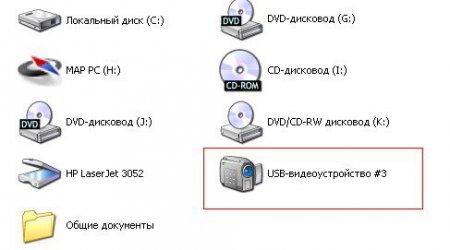 отображение подключенной веб камеры в списке устройств