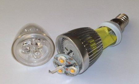 Разобранная LED лампа 9 Вт E14