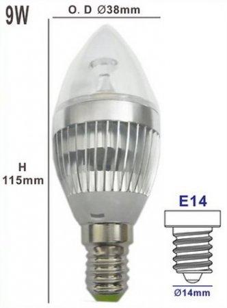 9 Вт E14
