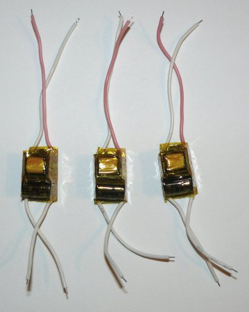 Драйвера для LED ламп изолированные полиамидным скотчем 5 мм