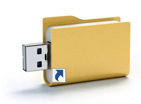 Файлы на флешке стали ярлыками, что делать?