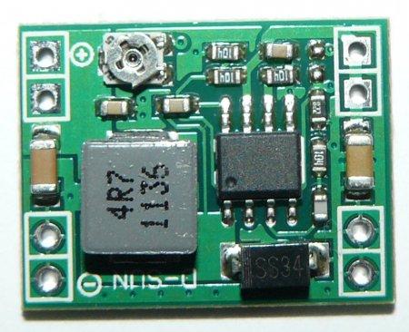 Понижающий регулируемый DC-DC преобразователь на чипе XM1584 крупным планом