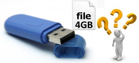 Как записать файлы больше 4 ГБ на флешку?