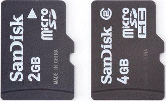 Внешний вид флешек MicroSD и MicroSDHC