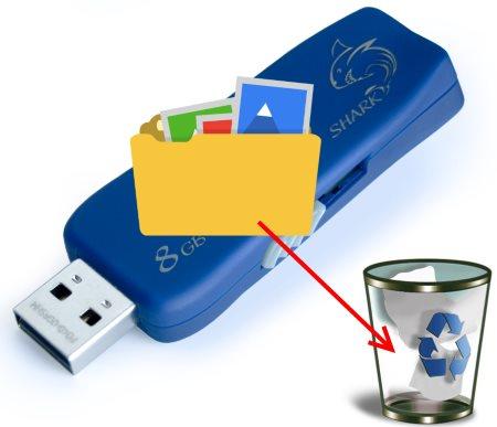 Как удалить файлы с флешки?