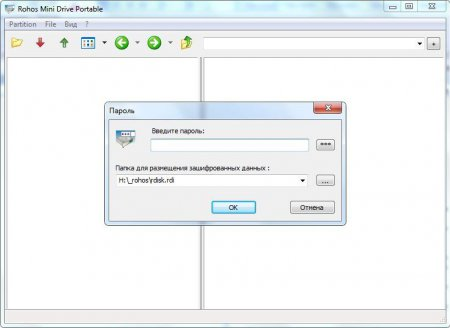 Просмотр защищенного диска через браузер в ROHOS Mini drive