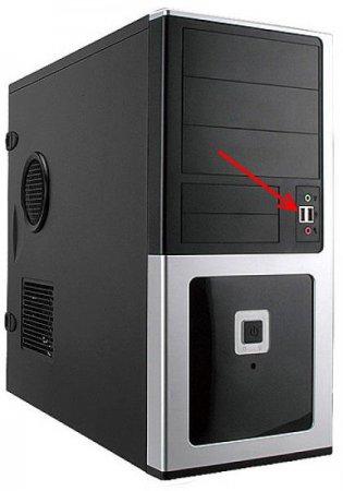 USB разъем на передней панели системного блока