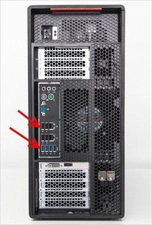 USB разъемы сзади системного блока