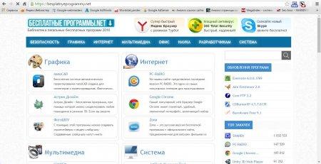 Стартовая страница besplatnyeprogrammy.net