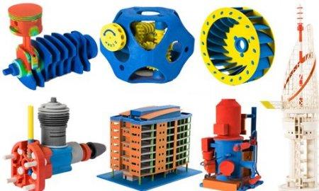 Цветные объекты, распечатанные на 3D принтере