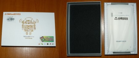 Коробка от планшета Teclast A78T и сам планшет в коробке