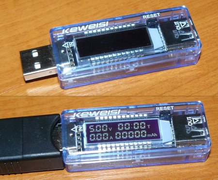 USB тестер Keweisi KWS-V20 амперметр, вольтметр, тестер емкости повербанков и аккумуляторных батарей