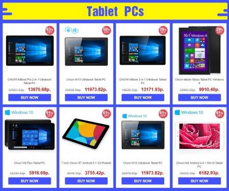 Скидки на планшетные компьютеры CHUWI