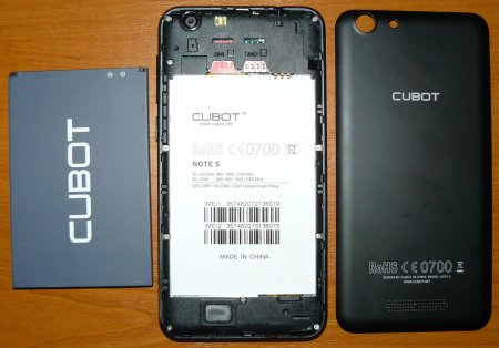 CUBOT NOTE S 3G без крышки