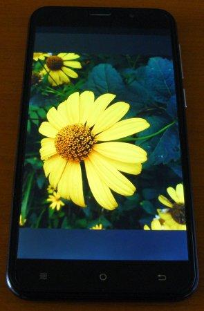 Фото на экране CUBOT NOTE S 3G
