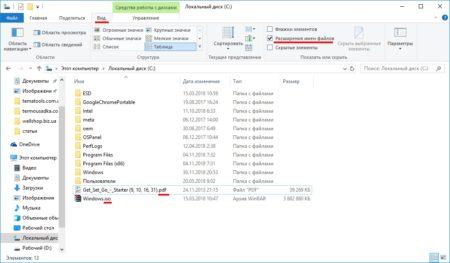 Включаем показ расширений файлов в проводнике Win 10