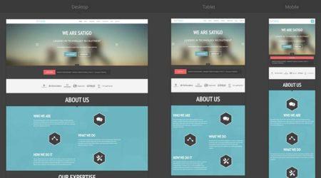 Пример отображения адаптивного сайта на разных устройствах