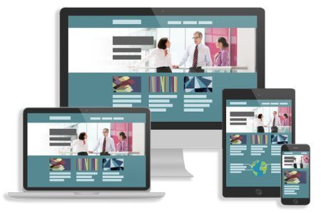Отображение сайта с адаптивной версткой на разных устройствах