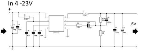 Схема собираемого синхронного DC-DC